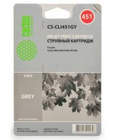 CLI-451GY Совместимый картридж Cactus CS-CLI451GY серый для Canon PIXMA MG6340, IP7240. (9.8мл., 780