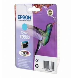 T0802 / T08024010 Картридж для Epson Stylus Photo голубой P50/ PX650/ 700w/ 710w/ 720w/ 800FW/ 810FW/ PX820FWD; RX560/ 585/ 685; R265/ 285/ 360