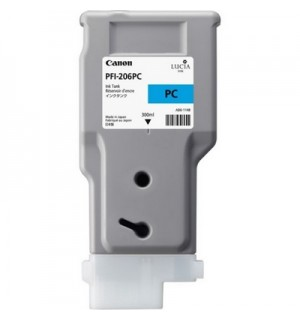PFI-206PC (Photo Cyan) [5307B001] Картридж с чернилами для плоттера Canon iPF6400/6450 (300 мл)