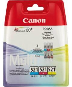 CLI-521 (C,M,Y) [2934B010] Набор картриджей к Canon Pixma iP3600, iP4600, iP4700, iP4600x, MP540, MP550, MP560, MP620, MP620B, MP630, MP640, MP660, MP980, MP990, MX860  (241 стр.)