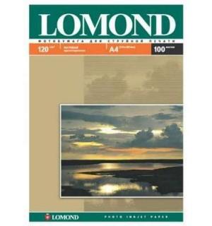 120 Фотобумага LOMOND A4 INC JET 120 г/ м2 100 л. матовая односторонняя [0102003]