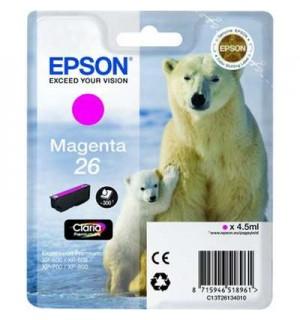 T2613 / T26134 Картридж пурпурный (№26) для Epson XP-600/ 605/ 700/ 710/ 800/ 820 (300 стр.), Magenta