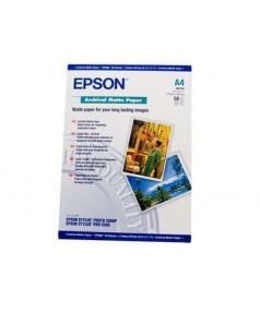 S041342 Бумага Epson Archival Mate Paper, A4, 192 г/ м2, (50 л.)