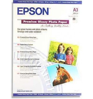 S041315 Бумага Epson Premium Glossy Photo Paper, A3, 255г/ м2 (20 л.)