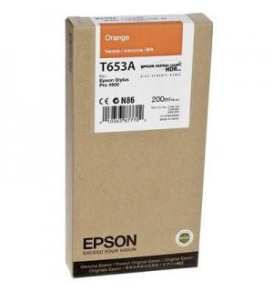 T653A / T653A00 Картридж для Epson Stylus Pro 4900 orange ( 200ml )