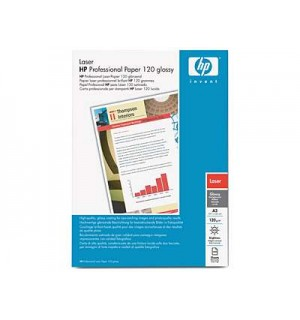 Q6547A Глянцевая фотобумага HP для лазерных принтеров, 120 г/ м2, А4 (200л.)