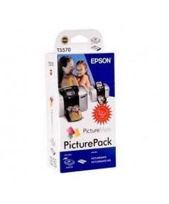 T5570 / T557040BD Набор: картридж+ бумага для EPSON PictureMate/ BT/ PictureMate 500 (135 стр. 10х15)