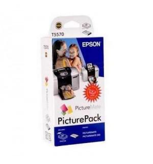 T557040BD Набор: картридж+ бумага для EPSON PictureMate/ BT/ PictureMate 500 (135 стр. 10х15)