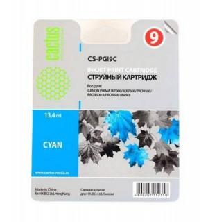 PGI-9C Совместимый картридж Cactus CS-PGI9C голубой для CANON Pixma X7000/ MX7600/ Pro9500 (13,4 мл)