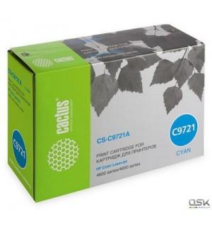 C9721A совместимый Картридж Cactus CS-C9721A для HP Color LJ 4600/ 4650 Cyan (8000 стр.)