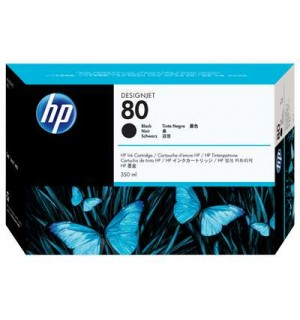 C4871A HP 80 Картридж Black для плоттера DesignJet 1050с/ с+/ 1055cm/ cm+ (350 ml)