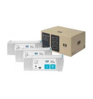 C5067A HP 81 Комплект голубых картриджей для графопостроителей DesignJet 5000/5500, 3шт. по 680 мл.