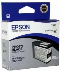 T5801 / T580100 Картридж для Epson Stylus Pro 3800/3880 Black (80мл.)