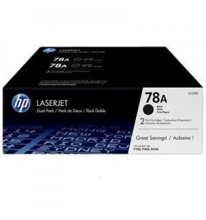 CE278AF HP 78A Двойная упаковка картриджей для HP LaserJet для P1560/ P1566 / P1606 / M1530 / M1536 (2х2100стр)