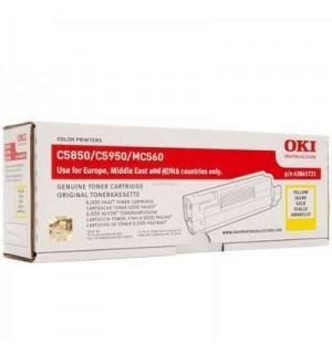 43865721/43865741 Тонер-картридж желтый для принтеров OKI C5850/ C5950/ mc560 (6000 стр.)