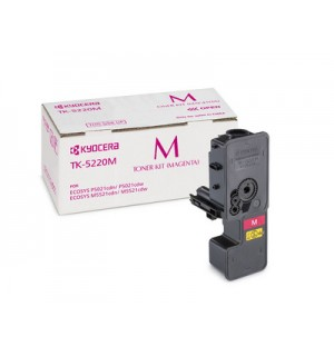 TK-5220M Тонер-картридж Kyocera пурпурный для P5021cdn/cdw, M5521cdn/cdw (1200 стр.) [1T02R9BNL1]