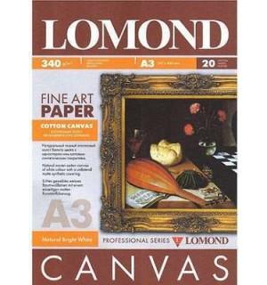 Бумага LOMOND A3 Ярко-белый хлопковый холс, 340 Г/М2, 20 ЛИСТОВ. [0908332]