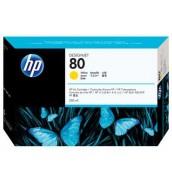 C4848A HP 80 Картридж для плоттера HP DesignJet 1050с/ с+/ 1055cm/ cm+ (350 ml) Yellow