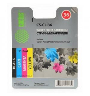 CLI-36 Совместимый струйный картридж Cactus CS-CLI36 для CANON PIXMA IP100, PIXMA 260 (11.8ml)