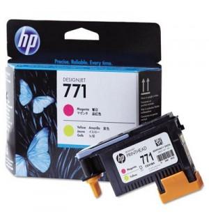 CE018A HP 771 Печатающая головка для HP DesignJet Z6200/ Z6600/ Z6800, пурпурная и желтая