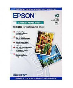 S041344 Бумага Epson Archival Mate Paper, A3, 192 г/ м2 (50 л.)