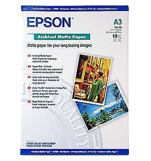 S041344 Бумага Epson Archival Mate Paper, A3, 192 г/ м2 (50 л.)