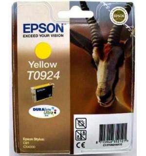 T0924 / T09244А / T1084 Картридж для Epson Stylus C91/ T26/ T27/ СX4300/ CX9300F/ TX106/ TX109/ TX117/ TX119 Yellow  (480стр. 5,5ml)