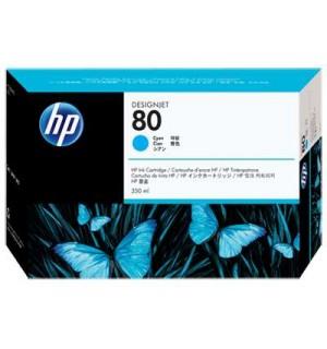 Уцененный голубой картридж C4846A HP 80 для плоттера HP DesignJet 1050с/ с+/ 1055cm/ cm+ (350 ml) Cyan