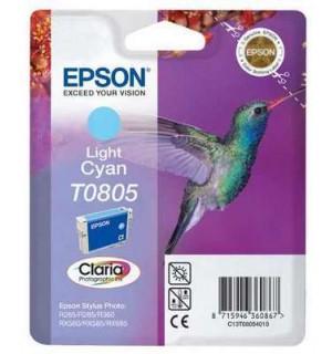 T0805 / T08054010 Картридж для Epson Stylus Photo светло-голубой P50/ PX650/ 700w/ 720w/ 710w/ 800FW/ 810FW/ PX820FWD; RX560/ 585/ 685; R265/ 285/ 360 (330 стр.)