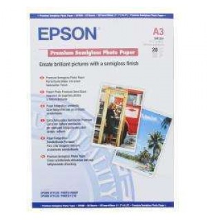 S041334 Бумага Epson Premium Semiglossy Photo Paper, A3, 251г/ м2 (20 л.)