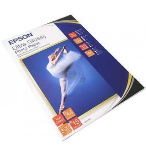 S041927 Бумага Epson Ultra Glossy Photo Paper, A4, 300 г/ м2, (15 л.)