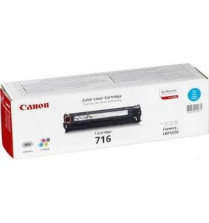 Canon Cartridge 716C [1979B002] Картридж для Canon LBP-5050, MF8030Cn, MF8050,  MF8040Cn Cyan (1500с