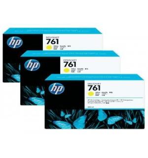 CR270A HP 761 картриджи для DesignJet T7100, тройная упаковка, Желтый (400 мл.)