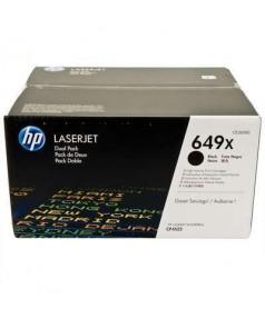CE260XD HP 649X Двойная упаковка черных картриджей повышенной емкости для HP Color LJ для CP4520/ 4525 (2х17000стр)