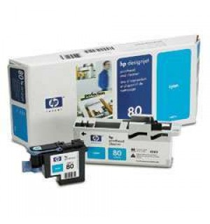 C4821A HP 80 Голова (printheads and printhead cleaners) для плоттера HP DesignJet 1050с/ с+/ 1055cm/ cm+ (Cyan)
