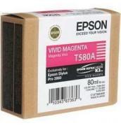 УЦЕНЕННЫЙ T580A / T580A00 Картридж для Epson Stylus Pro 3880 Vivid Magenta (80мл.)