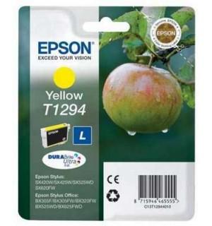 T1294 Картридж yellow для Epson Stylus SX420W/ SX425W/ SX438W/ SX525WD; Office BX305F/ BX320FW/ BX625FWD, B42WD, WF-3520DWF, WF-7525