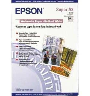 S041352 Бумага Epson Watercolor Paper- Radian White, художественная матовая,  A3+, 190 г/ м2 (20 л)