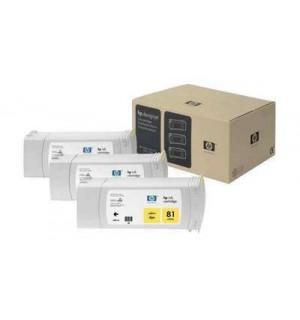 C5069A HP 81 Комплект желтых картриджей для графопостроителей DesignJet 5000/5500, 3шт. по 680 мл.