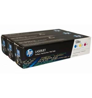 CF341A HP 126A Набор картриджей C+M+Y для цветных принтеров HP LaserJet Pro CP1025 (3*1000стр.)