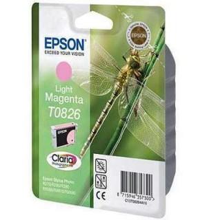 T0826 / T08264A / T11264A10 Картридж для Epson Stylus Photo  T50/T59/R270/R290/R390/RX590/RX610/RX690/TX650/TX659/TX700W, TX710,TX800FW Light-Magenta (590 стр.)