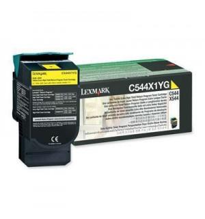 C544X1YG Картридж для Lexmark C540, C543, C544, X543, X544 Yellow Extra High Yield Return Program 4K