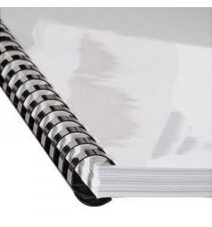 Пружина пластиковая для брошюровки, 8 мм, 21 отверстие, A4, до 40 листов, белый, Hama/ GBC (25 шт.)