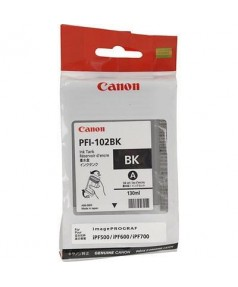 Уцененный картридж Canon PFI-102BK [0895B002] СТАРТОВЫЙ с чернилами для плоттера IPF-500/600/605/610/650/655