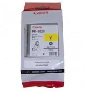 PFI-102Y (Yellow) [0898B001] Картридж с чернилами для плоттера Canon IPF-500/600/610/650/655/700/710/750(картридж 130 мл)
