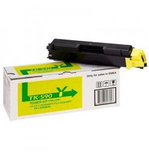 TK-590Y [1T02KVANL0] Тонер-картридж для Kyocera FS-C2026MFP/ C2126MFP/ C2526MFP/ C2626MFP/ C5250DN,
