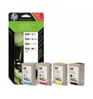 C2N93AE HP 940XL набор картриджей HP для HP Officejet Pro 8000/8500 ms (C4906+C4907+C4908+C4909) голубой, пурпурный, желтый, черный