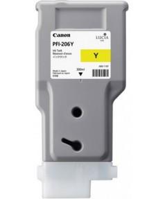 PFI-206Y (Yellow) [5309B001] Картридж с чернилами для плоттера Canon iPF6400/6450 (300 мл)