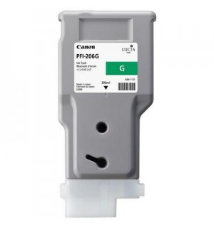PFI-206G (Green) [5310B001] Картридж с чернилами для плоттера Canon iPF6400/6450 (300 мл)