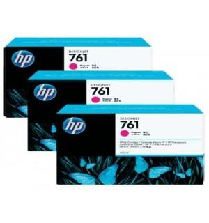 CR271A HP 761 картриджи для DesignJet T7100, тройная упаковка, Пурпурный (400 мл.)